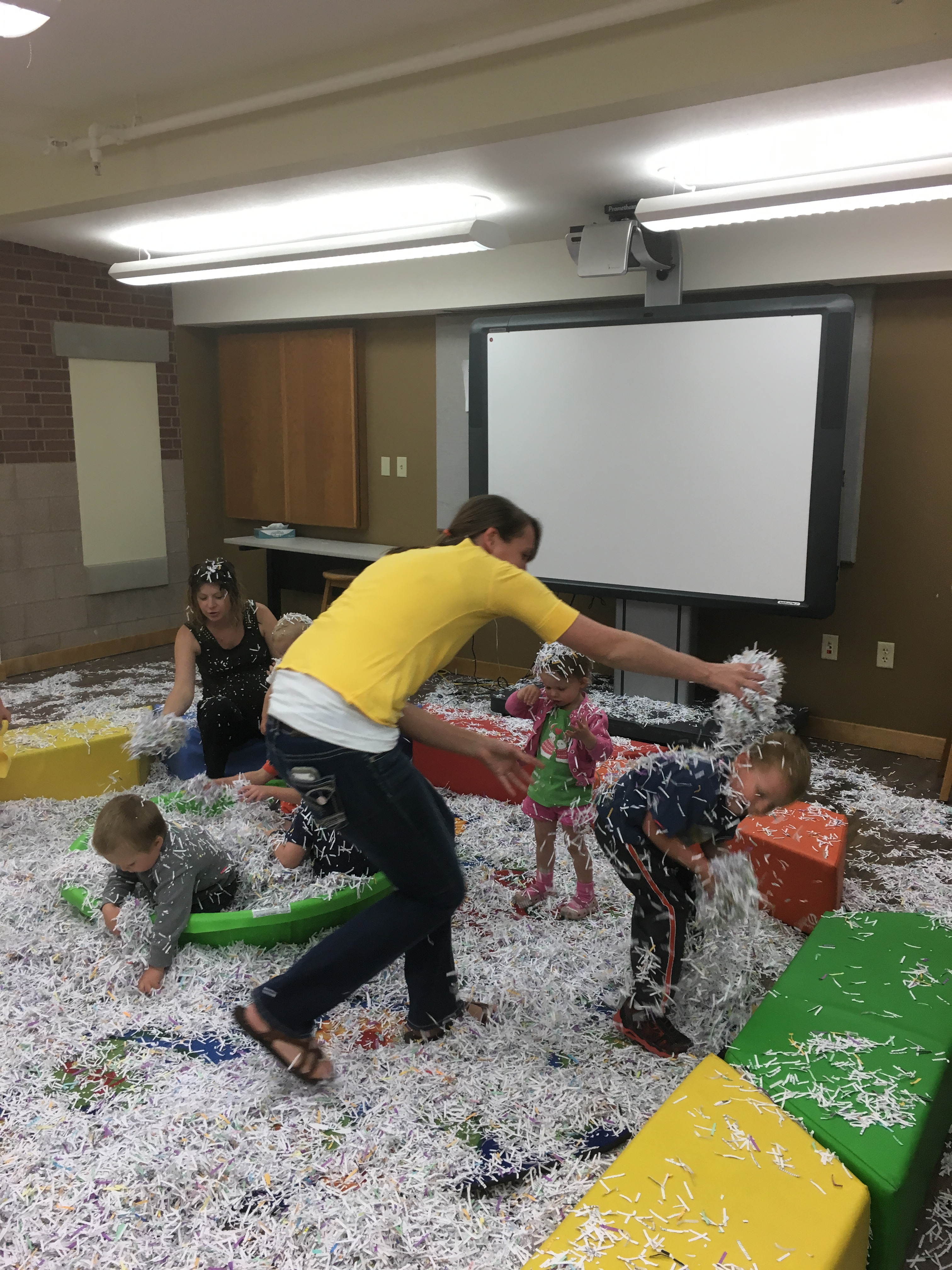 Shredded Paper Messy Fun Little Ones Event Yogibrarian